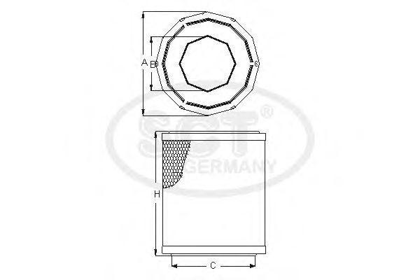 Воздушный фильтр SCT SB075