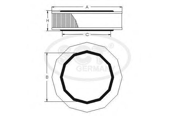 Воздушный фильтр SCT SB083