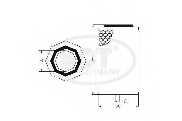 Фильтр воздушный SCT SB3090
