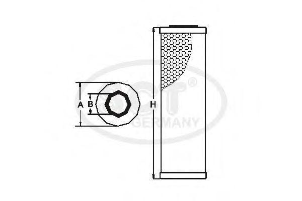 Фильтр масляный SCT SH435P