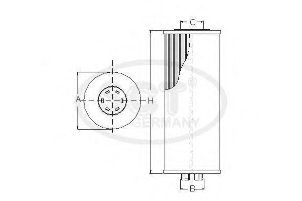 Фильтр масляный SCT SH4742P