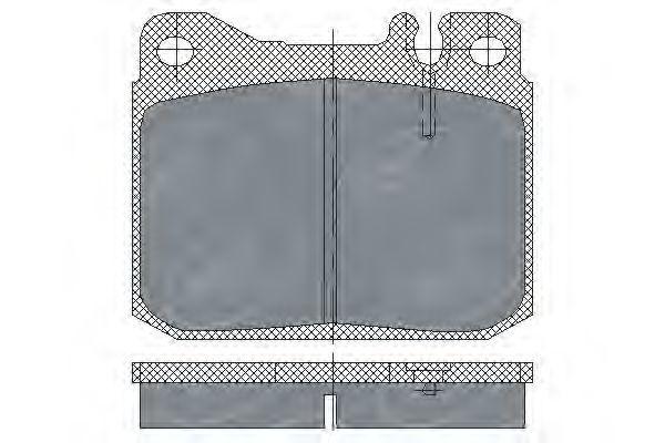 Колодки тормозные SCT SP103PR