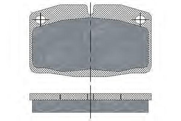Колодки тормозные SCT SP105PR