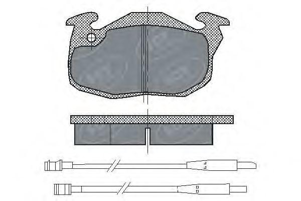 Колодки тормозные SCT SP 107 PR