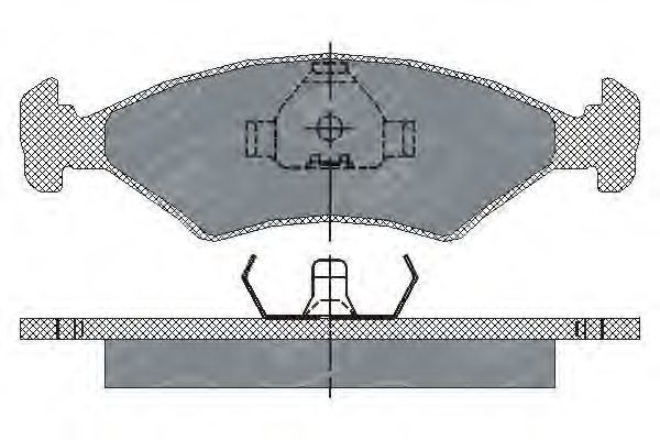 Колодки тормозные SCT SP108PR