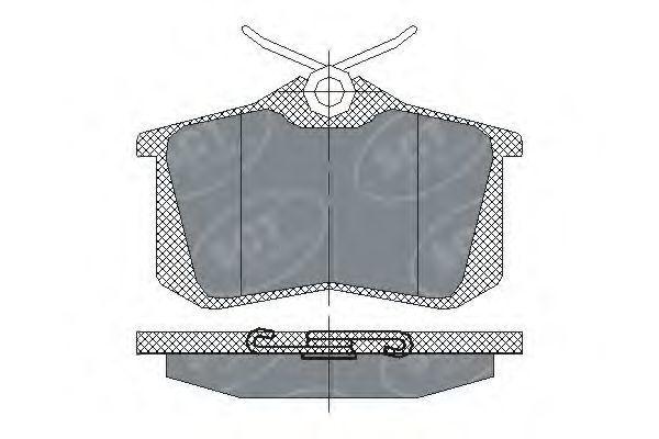 Колодки тормозные ProfiLine SCT SP 113 PR