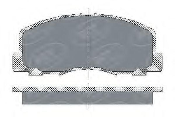 Колодки тормозные ProfiLine SCT SP 117 PR