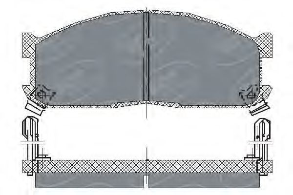 Колодки тормозные ProfiLine SCT SP 128 PR