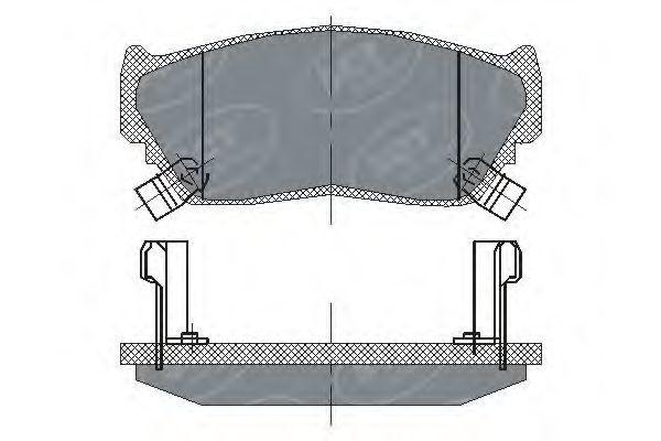 Колодки тормозные ProfiLine SCT SP 135 PR