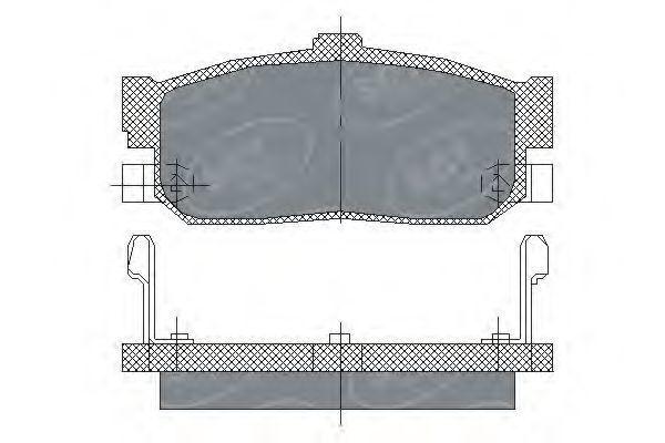 Колодки тормозные ProfiLine SCT SP 139 PR