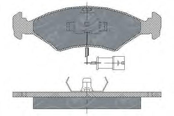 Колодки тормозные SCT SP142PR