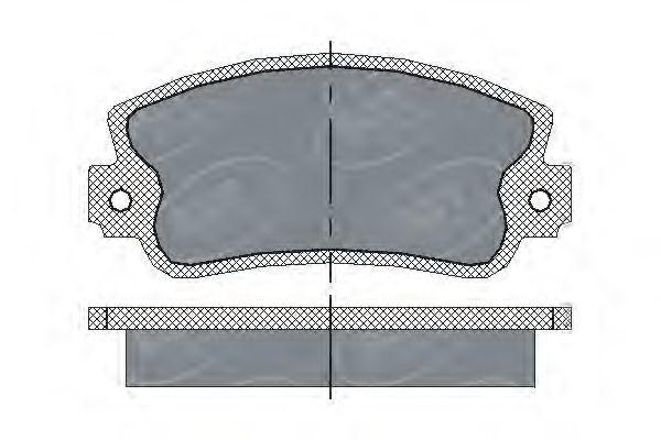 Колодки тормозные ProfiLine SCT SP 143 PR