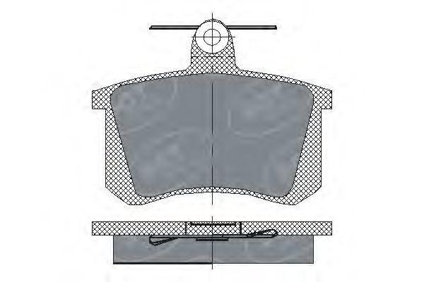 Колодки тормозные SCT SP 145 PR