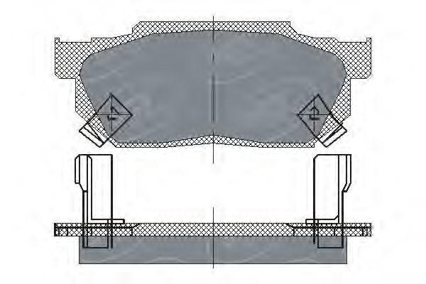 Колодки тормозные ProfiLine SCT SP 150 PR