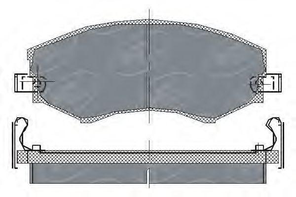 Колодки тормозные SCT SP151PR