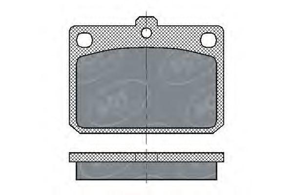 Колодки тормозные SCT SP159PR