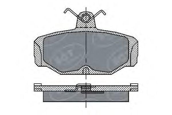 Колодки тормозные ProfiLine SCT SP 161 PR