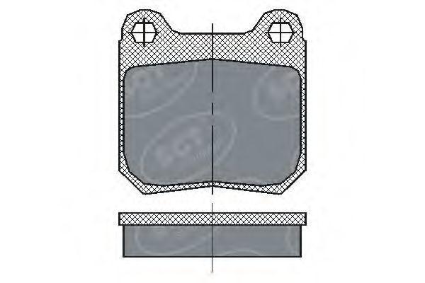 Колодки тормозные SCT SP162PR