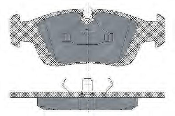 Колодки тормозные SCT SP164PR