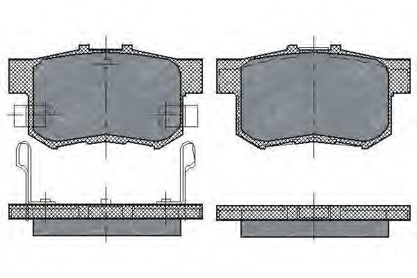 Колодки тормозные SCT SP 168 PR