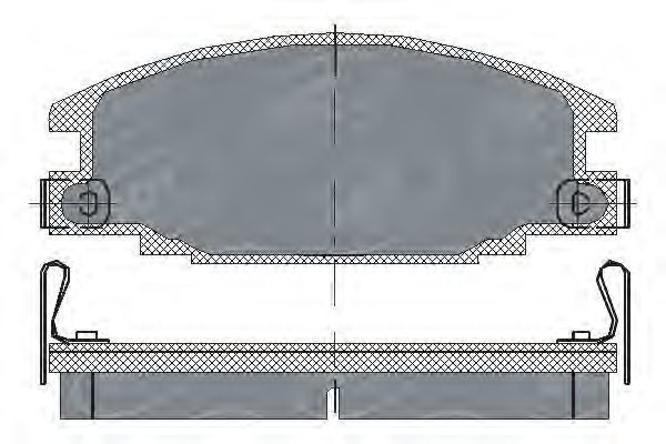 Колодки тормозные SCT SP 174 PR