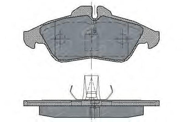 Колодки тормозные SCT SP177PR