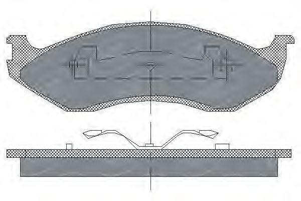 Колодки тормозные SCT SP181PR