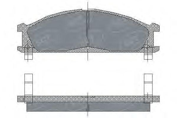 Колодки тормозные SCT SP 185 PR
