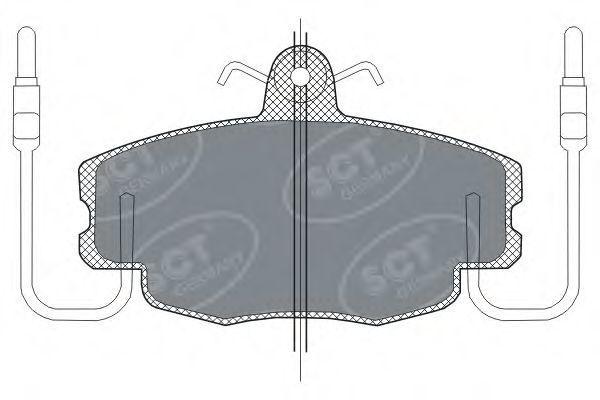 Колодки тормозные SCT SP189PR