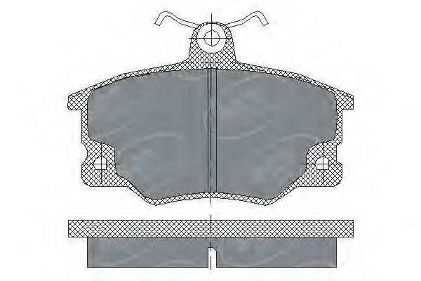 Колодки тормозные ProfiLine SCT SP 191 PR