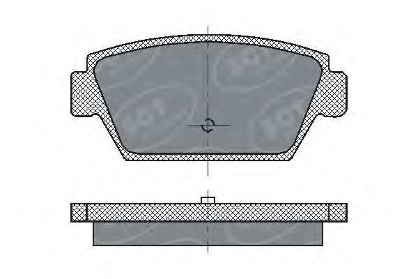 Колодки тормозные SCT SP192PR