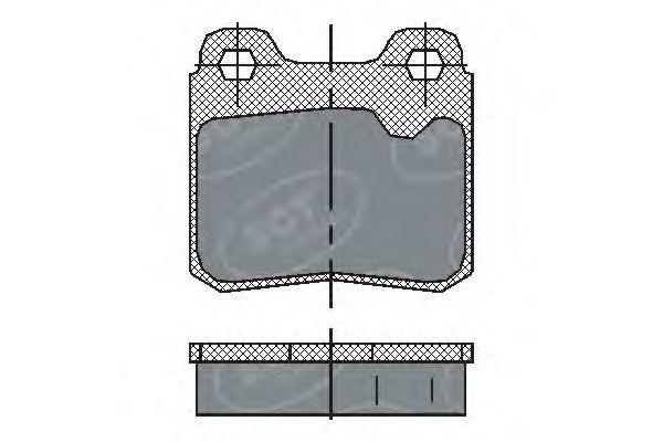 Колодки тормозные SCT SP193PR
