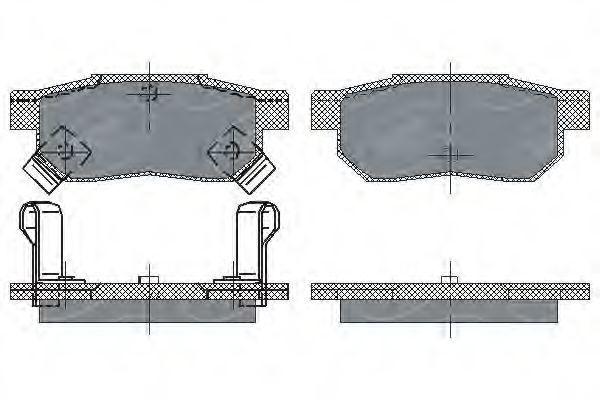 Колодки тормозные SCT SP 195 PR