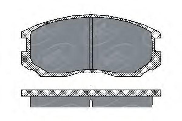 Колодки тормозные ProfiLine SCT SP 196 PR