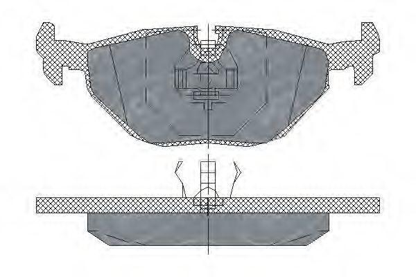 Колодки тормозные SCT SP 198 PR