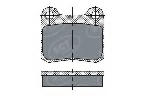 Колодки тормозные SCT SP200PR