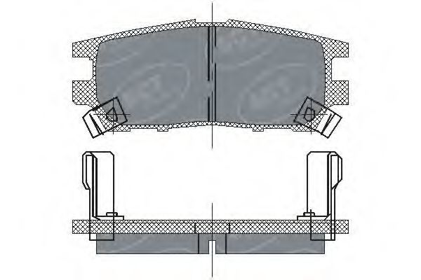 Колодки тормозные ProfiLine SCT SP 202 PR