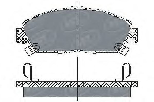 Колодки тормозные SCT SP203PR