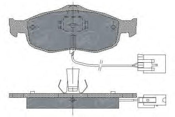 Колодки тормозные SCT SP204PR