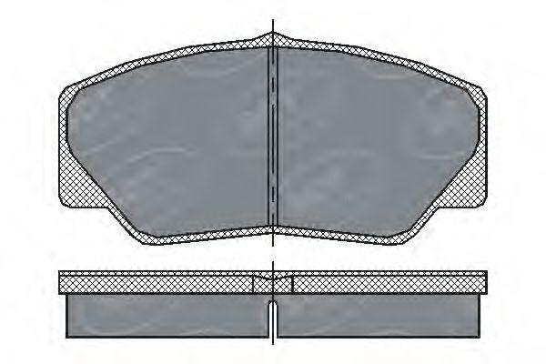 Колодки тормозные ProfiLine SCT SP206PR