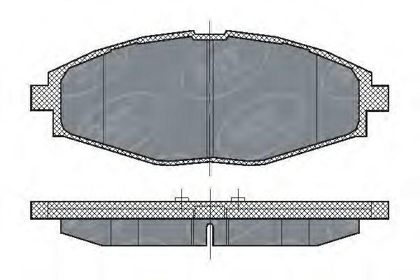 Колодки тормозные SCT SP213PR