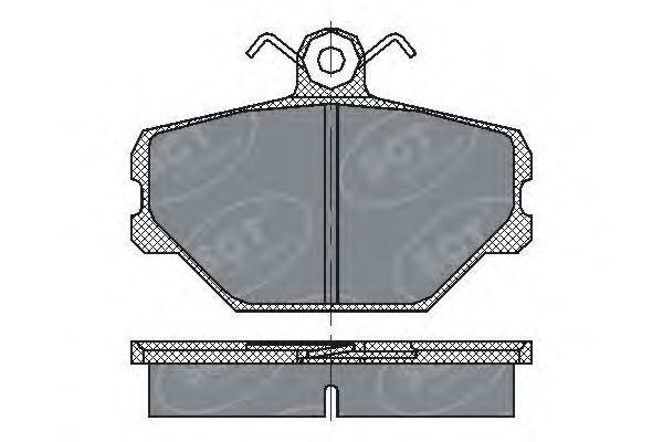 Колодки тормозные SCT SP217PR