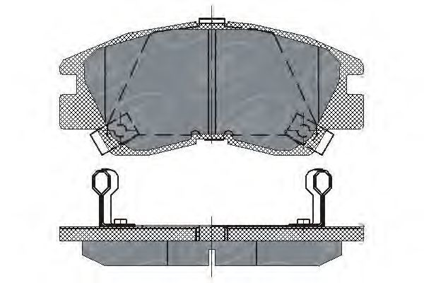 Колодки тормозные SCT SP222PR
