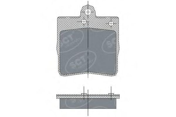 Колодки тормозные SCT SP247PR