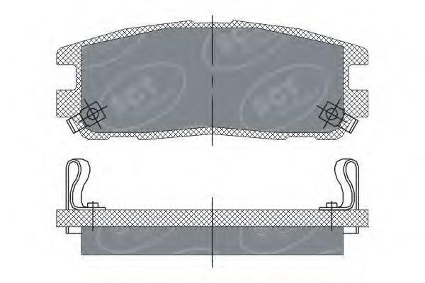 Колодки тормозные SCT SP248PR