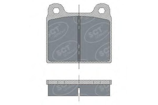 Колодки тормозные SCT SP251PR