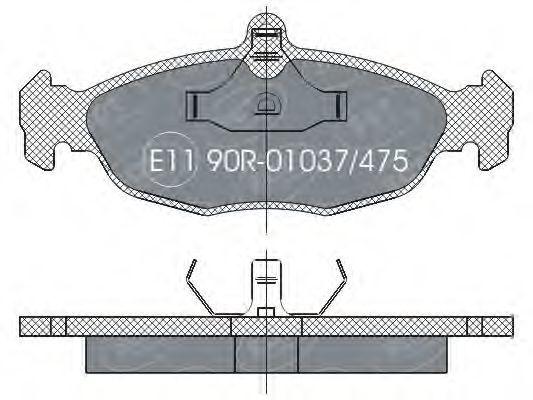 Колодки тормозные SCT SP252PR