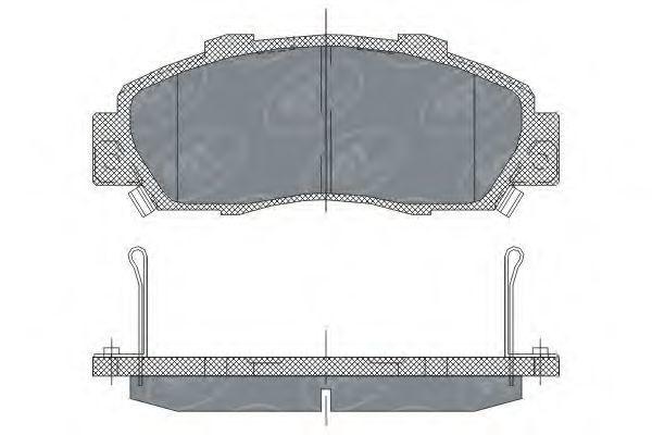Колодки тормозные SCT SP253PR