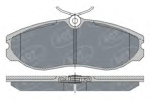 Колодки тормозные ProfiLine SCT SP 257 PR