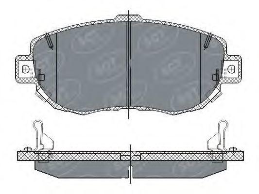 Колодки тормозные SCT SP261PR